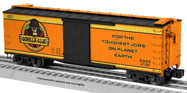 2001340 LOTS 2020 Gorilla Glue Boxcar cropped with text